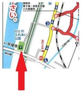 寒川神社 初詣 無料駐車場1