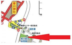 寒川神社 初詣 有料駐車場9