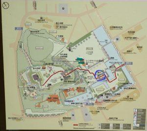 小田原城址公園 銅門(あかがねもん)マップ
