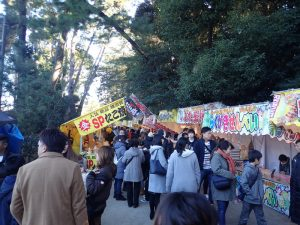 寒川神社 参道横にある露店