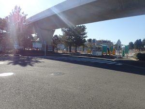 海の公園 芝口駐車場 入口