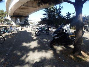 海の公園 周辺 ビッグスクーター駐車場