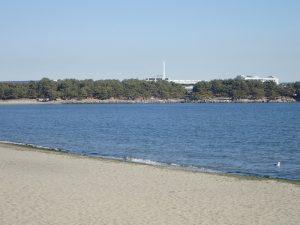 海の公園 八景島駅歩道橋と八景島駅