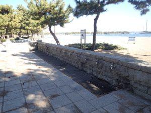 海の公園 足の洗い場 2つ目