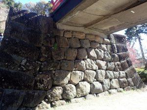 小田原城址公園 常盤木橋(ときわぎばし)橋げた