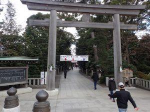 寒川神社 初詣 参道