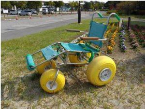 海の公園 水陸両用車椅子