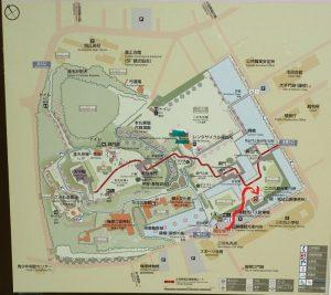 小田原城 二の丸観光案内所 近道