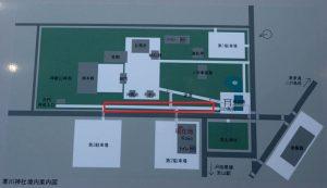 寒川神社 屋台 参道脇の通路