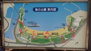 海の公園 トイレ地図マップ