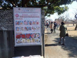 小田原フラワーガーデン 渓流の梅園 入口