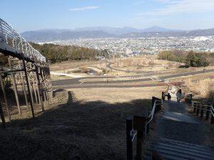 県立おだわら諏訪の原公園 ローラー滑り台 戻る場合