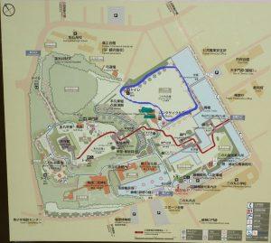 小田原城址公園 二の丸広場マップ