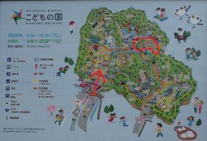 こどもの国横浜 梅園地図(マップ)