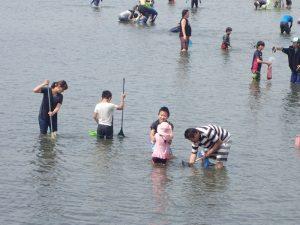 海の公園 潮干狩り 避けたい場所