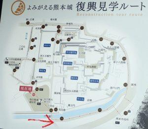 熊本城:加藤清正公像の場所