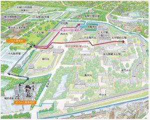 熊本城特別公開:第1弾見学観光ルート