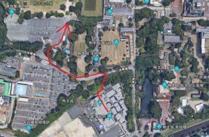 熊本城:徒歩ルート図