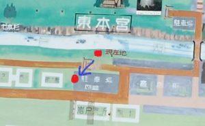 天岩戸神社西本宮:天照大神像の向く方向、須佐之男命(すさのをのみこと)像