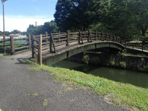 道の駅通潤橋:駐車場と橋