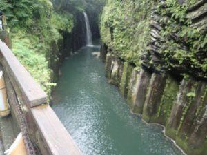 高千穂峡:遊歩道から真名井の滝