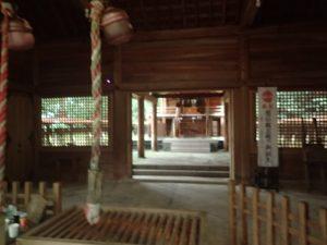 天岩戸神社:東本宮、拝殿から観た本殿