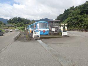 トンネルの駅:宮崎県、駐車場入口