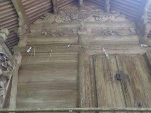 草部吉見神社:本殿の彫刻