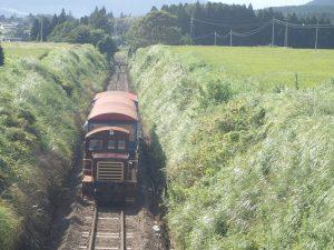 トロッコ列車:南阿蘇鉄道、見晴台駅通過後