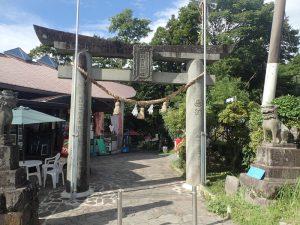 白川水源:熊本、入口の鳥居