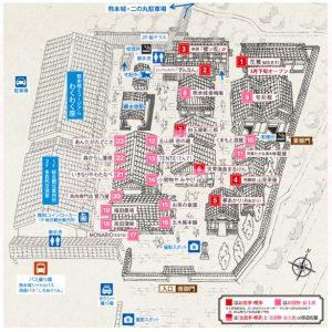 熊本城:桜の小路地図