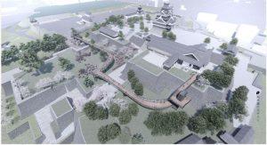 熊本城:2020年春、特別見学通路完成予想図