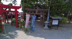 青井阿蘇神社:宮地嶽神社の鳥居、稲荷神社の鳥居
