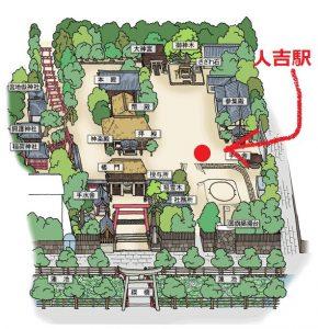 青井阿蘇神社:境内マップ