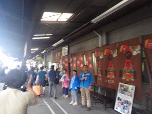SL人吉:人吉駅歓迎