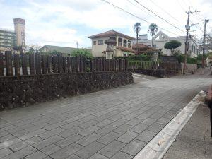 青井阿蘇神社:駐車場入口