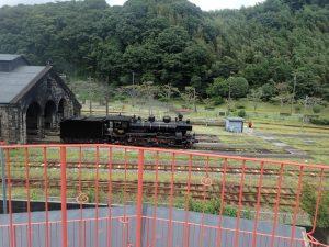 人吉駅転車台:蒸気機関車展示