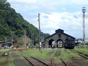 人吉転車台:人吉機関車庫と転車台のコラボ撮影