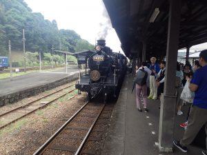 SL人吉:人吉駅出発前記念撮影
