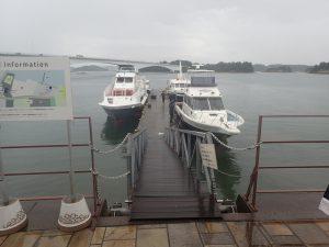 シークルーズ:デッキ前、乗船前の待機場所