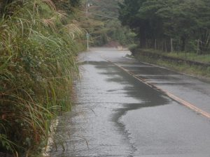 箱根:道路冠水