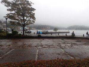 箱根:元箱根の駐車場