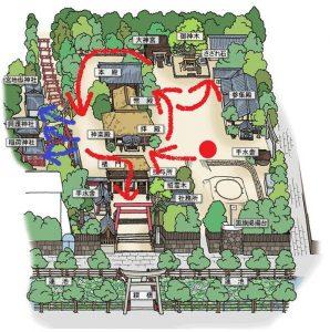 青井阿蘇神社:楼門までの歩き方