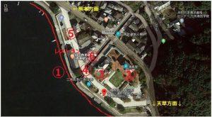 三角西港:全体観光施設地図