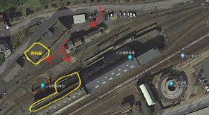 人吉転車台:資料室と転車台の場所、地図、マップ