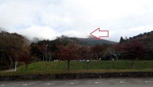 箱根園駐車場から駒ヶ岳の風景