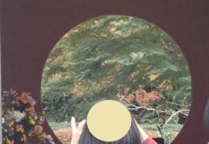 明月院の丸窓撮影