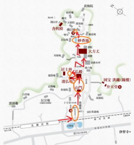 円覚寺:正続院とモミジ
