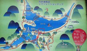 丹沢湖:遊歩道マップ
