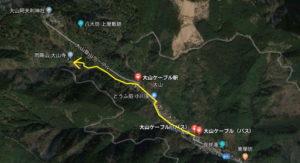 大山寺 女坂から行く紅葉ルート